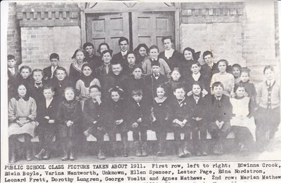 McHenry Public School Picture Taken About 1911