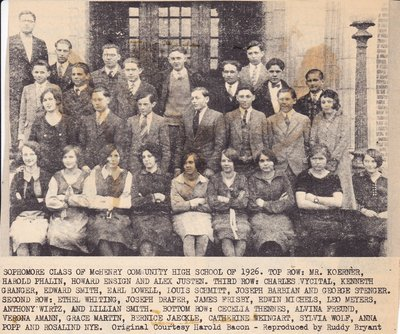 Sophmore Class of 1926 of McHenry Community High School