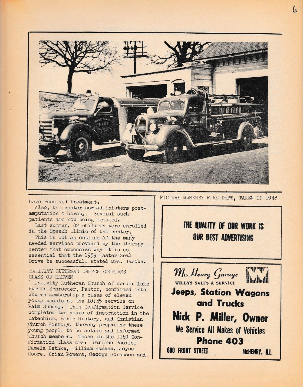 The Pictorial Newsletter: April 1, 1959