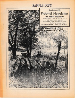 The Pictorial Newsletter: September 7, 1960