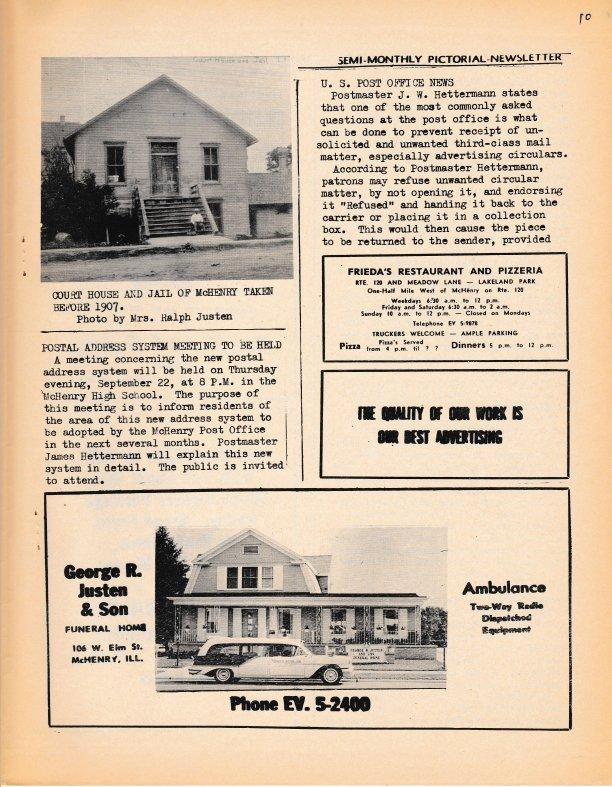 The Pictorial Newsletter: September 21, 1960