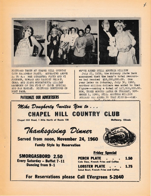 The Pictorial Newsletter: November 16, 1960