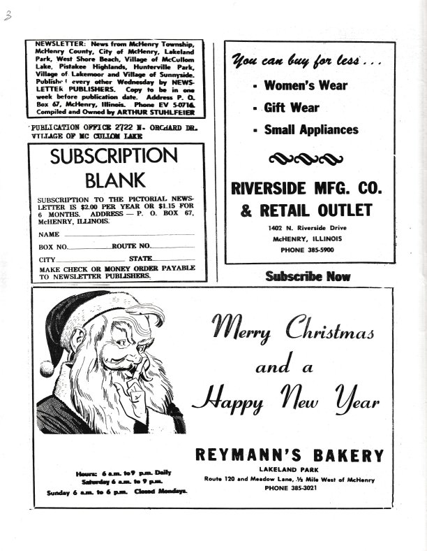 The Pictorial Newsletter: December 16, 1964