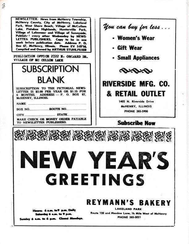 The Pictorial Newsletter: December 30, 1964