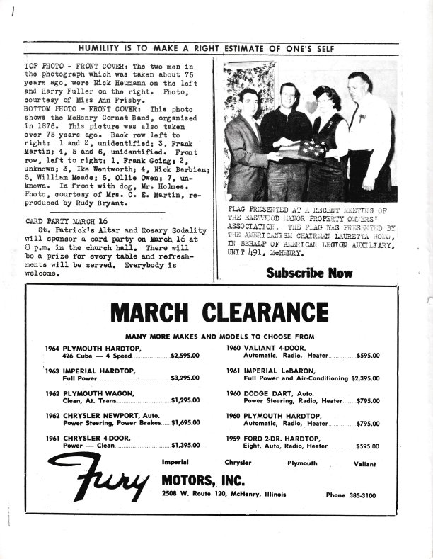 The Pictorial Newsletter: March 10, 1965