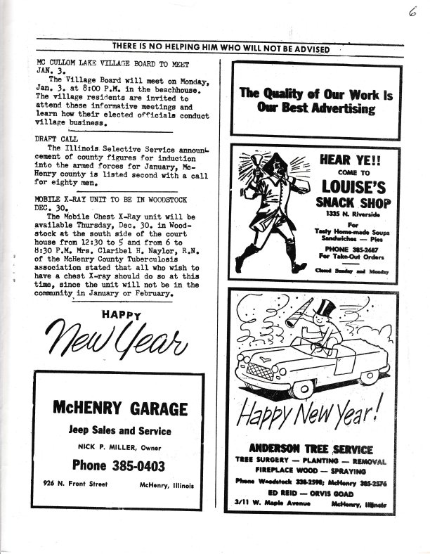 The Pictorial Newsletter: December 29, 1965