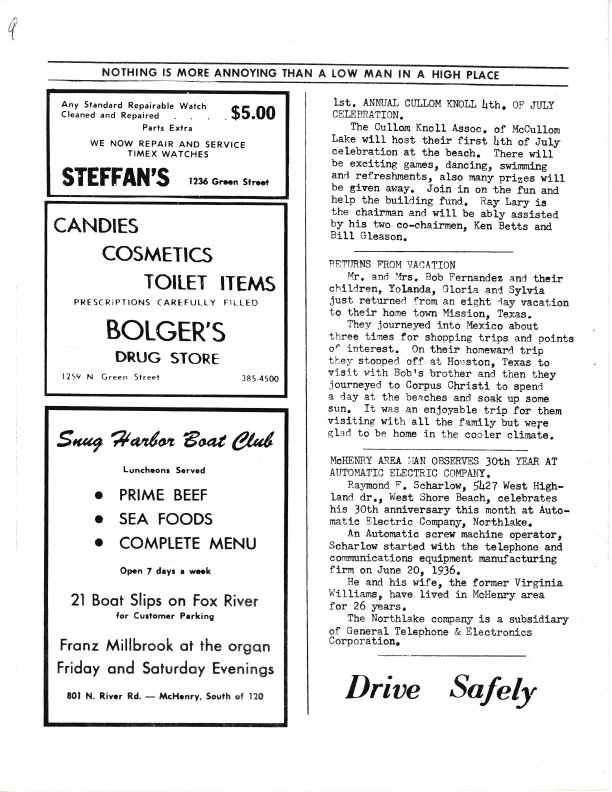 The Pictorial Newsletter: June 29, 1966