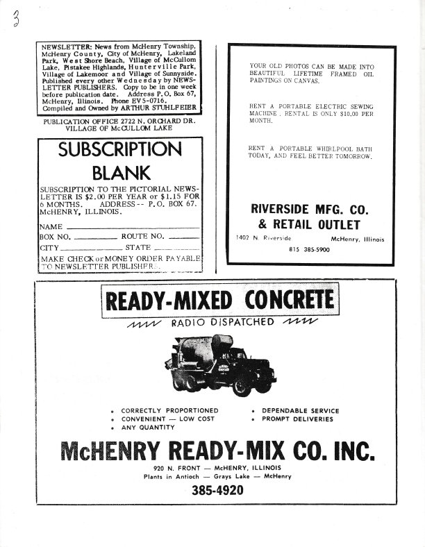 The Pictorial Newsletter: August 24, 1966