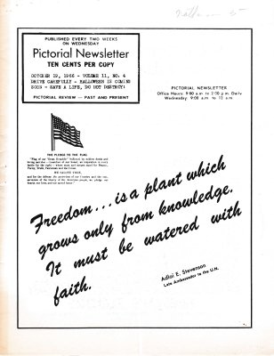 The Pictorial Newsletter: October 19, 1966