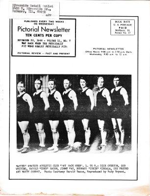 The Pictorial Newsletter: November 30, 1966