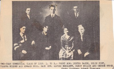 McHenry's Two Year Commercial Class of 1916