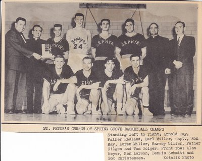 Spring Grove Basketball Team