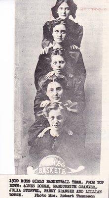 McHenry High School Girls Basketball Team of 1910