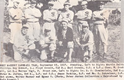 West McHenry Baseball Team - 1917