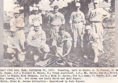 East Side McHenry Baseball Team - 1917