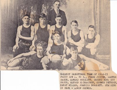 McHenry Basketball Team of 1914-1915