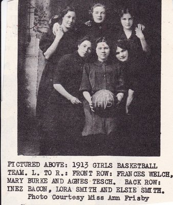 1913 McHenry High School Girls Basketball Team