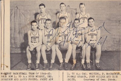 McHenry Basketball Team of 1944-1945