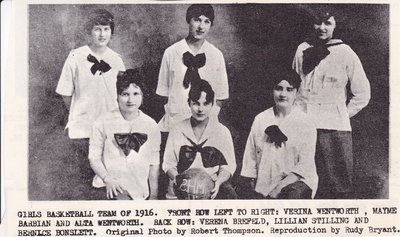 Girls Basketball Team of 1916