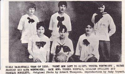 Girls Basketball Team of 1916