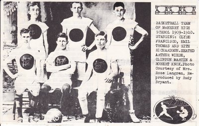 McHenry Basketball Team Of 1909-1910