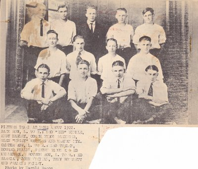 McHenry High School Boys Basketball Team of 1922