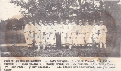 1910 White Sox of McHenry