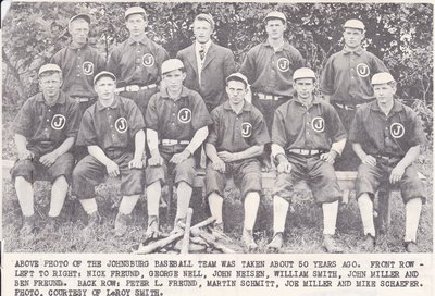 Johnsburg Baseball Team From About 1913