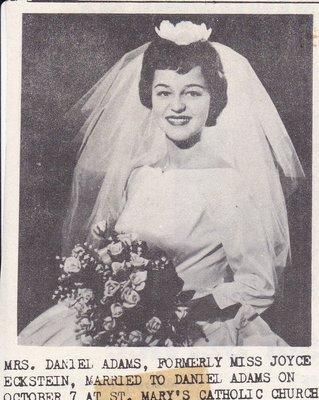 Wedding Photograph: Mrs Daniel Adams