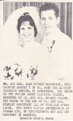 Wedding Photograph: Mr & Mrs Alex Robert Goscinski