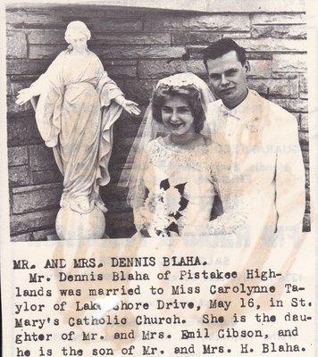 Wedding Photograph: Mr & Mrs Dennis Blaha