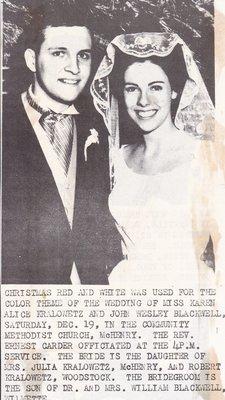 Wedding Photograph: Mr & Mrs John Wesley Blackwell