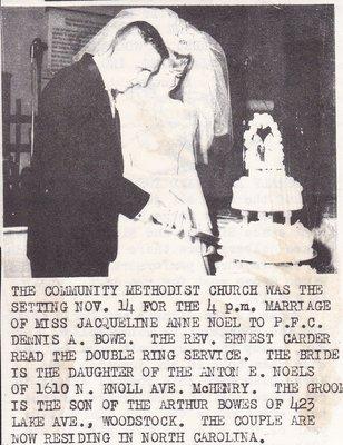 Wedding Photograph: Mr & Mrs Dennis Bowe