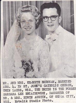 Wedding Photograph: Mr & Mrs Kenneth Brennan