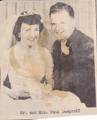 Wedding Photograph: Mr & Mrs Paul Dunproff
