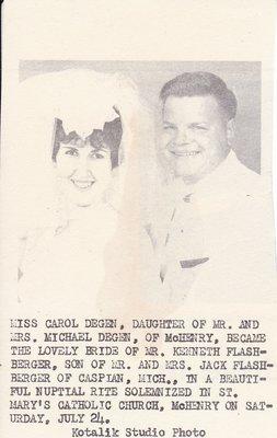 Wedding Photograph: Mr & Mrs Dennis Flashberger