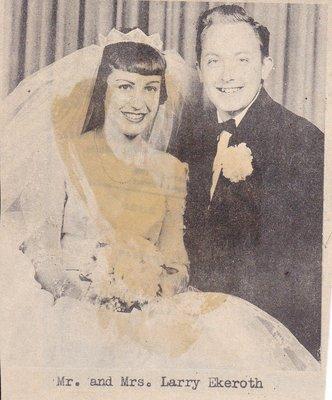 Wedding Photograph: Mr & Mrs Larry Eckeroth