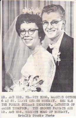 Wedding Photograph: Mr & Mrs Kenneth Homo