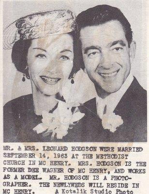 Wedding Photographs: Mr & Mrs Leonard Hodgson