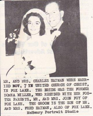 Wedding: Mr & Mrs Charles Haiman