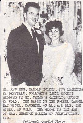 Wedding: Mr & Mrs Harold Holden