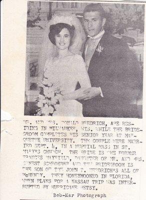 Wedding: Mr & Mrs Donald Herdrich