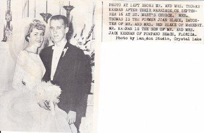 Wedding: Mr & Mrs Thomas Keenan