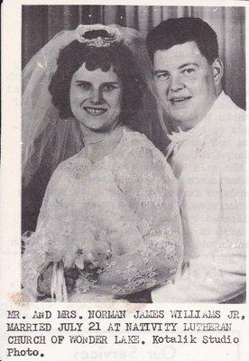 Wedding: Mr & Mrs Norman James Williams