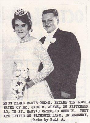 Wedding: Mr & Mrs Marie Owens