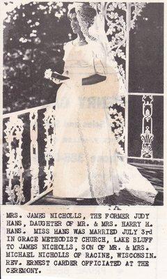 Wedding: Mrs James Nicholls
