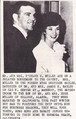 Wedding: Mr & Mrs Richard Miller