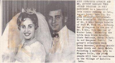 Wedding: Mr & Mrs Anthony Marzano