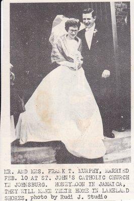 Wedding: Mr & Mrs Frank Murphy