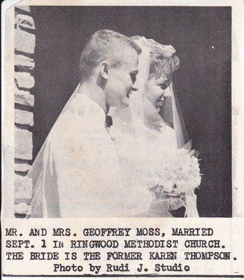 Wedding: Mr & Mrs Geoffrey Moss
